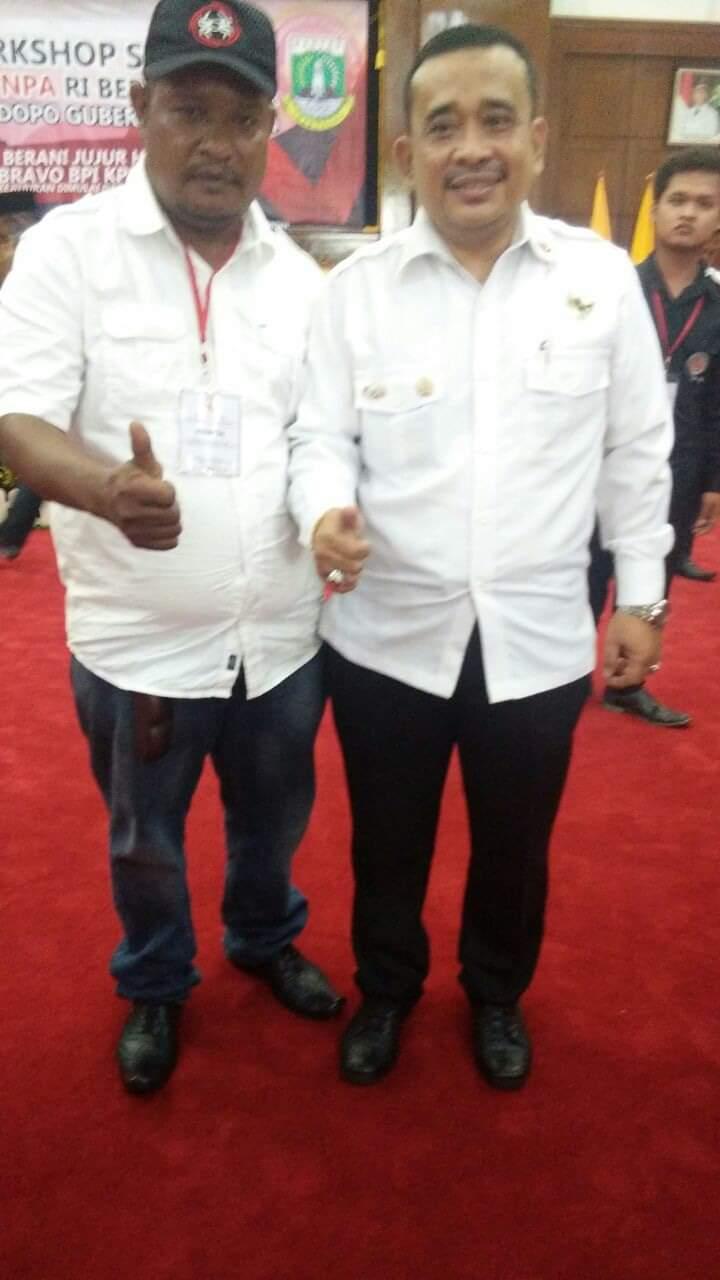 Ketua Umum BPI KPNPA RI dan Ketua Saber pungli Tipikor BPI KPNPA RI Propinsi Papua / Foto Yr
