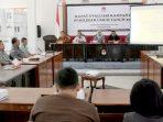 Suasana rapat evaluasi KPUD Kendal terkait pelaksanaan tahapan kampanye Pemilu 2019