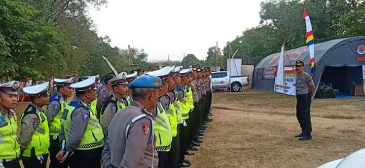 Kesiapan personil Polres Blora dalam pengamana pelaksanaan Jamda XV dari tangga 27-31 Agustus 2019.