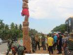 Tugu atau monument Ori Tendang merupakan tanda bahwa keberadaan masyarakat suku asli daerah Penajam yaitu Paser (foto:sulianto)