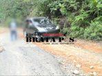 Akses jalan menuju kecamatan rantau pandan dan kecamatan bathin ulu yang rusak parah