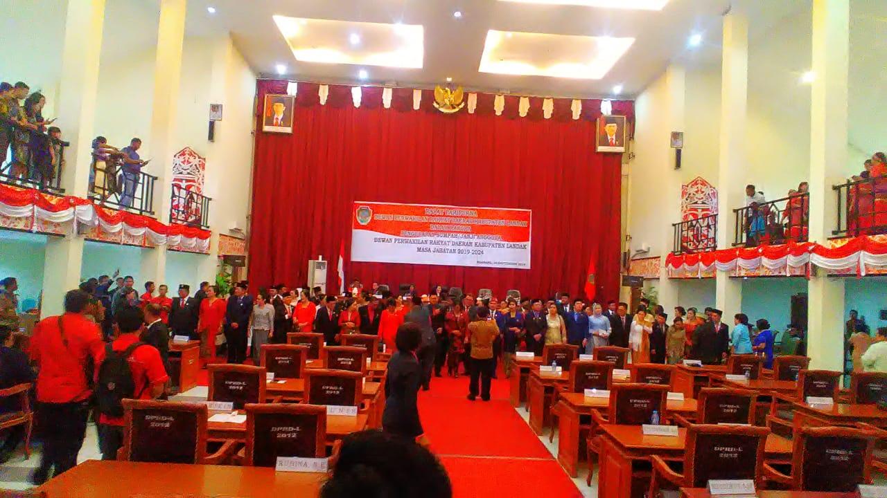 Pelantikan DPRD Kabupaten Landak.