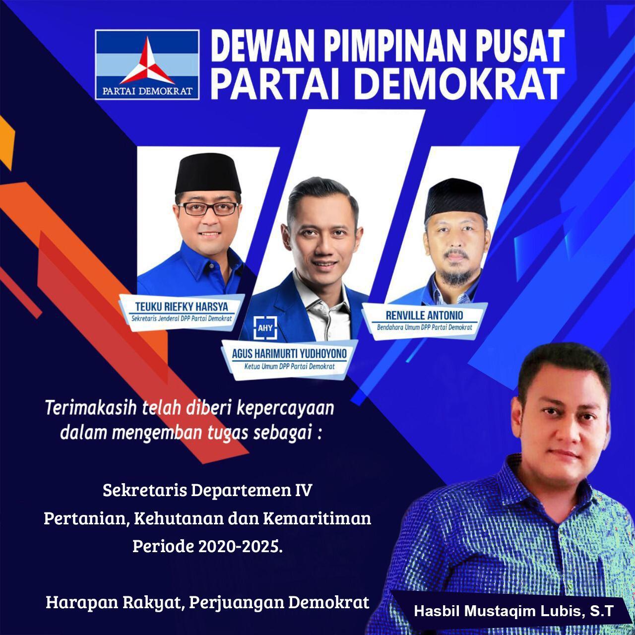 Hasbil Mustaqim Lubis S T Putra Air Joman Kabupaten Asahan Masuk Kabinet Ahy Bratapos Com